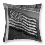 Flag Formation, C1917 Throw Pillow