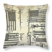 1927 Flag Spreader Patent Drawing Throw Pillow