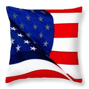 Flag Mirror Throw Pillow
