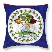 Flag Of Belize Throw Pillow