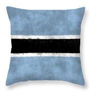 Flag Of Botswana Throw Pillow