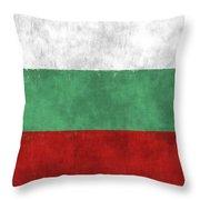 Flag Of Bulgaria Throw Pillow