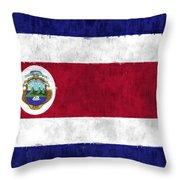 Flag Of Costa Rica Throw Pillow