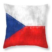 Flag Of Czech Republic Throw Pillow