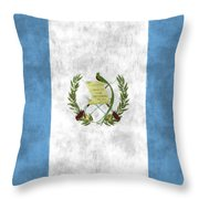 Flag Of Guatamala Throw Pillow