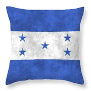 Flag Of Honduras Throw Pillow