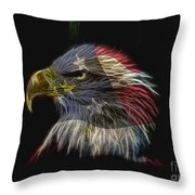Flag Of Honor Throw Pillow