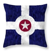 Flag Of Indianapolis Throw Pillow