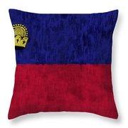 Flag Of Liechtenstein Throw Pillow