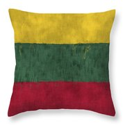 Flag Of Lithuania Throw Pillow