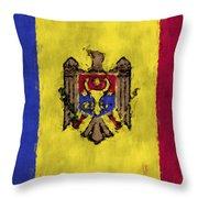 Flag Of Moldavia Throw Pillow