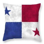 Flag Of Panama Throw Pillow