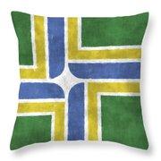Flag Of Portland Throw Pillow