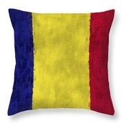 Flag Of Romania Throw Pillow