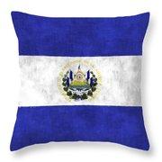 Flag Of Salvador Throw Pillow
