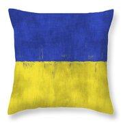 Flag Of Ukraine Throw Pillow