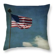 Flag - Still Standing Proud - Luther Fine Art Throw Pillow