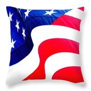 Flag Unfurl Throw Pillow