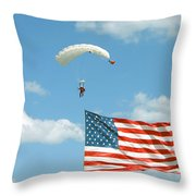 Flagdiver Throw Pillow