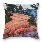 Flagging Pines Throw Pillow