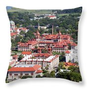 Flagler College St Augustine Florida Throw Pillow