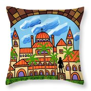 Flagler College - St. Augustine Throw Pillow
