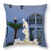 Reflection Of A Courtyard Throw Pillow