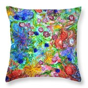 Flagrantly Floral Throw Pillow