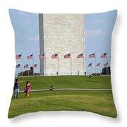 Flags Around Washington Throw Pillow