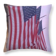 Flags At Cape May Nj Throw Pillow