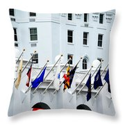 Flags At The Greenbrier Throw Pillow