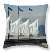 Flags At The Sails  Throw Pillow