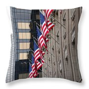 Flags In A Row Throw Pillow