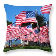 Flags Of Glory Throw Pillow