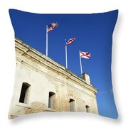 Flags Of San Christobal Throw Pillow
