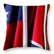 Flags Of The North And South Throw Pillow