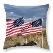 Flags On Antelope Island Throw Pillow