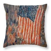 Flags On The Waldorf Throw Pillow