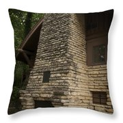 Flagstone Fireplace Throw Pillow