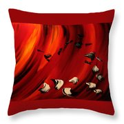 Flamboyant Throw Pillow by Isabelle Vobmann