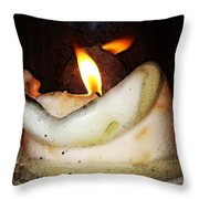 Flame Candle Art Throw Pillow