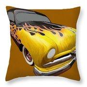 Flame Car Throw Pillow