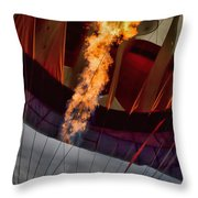 Flame On Two Throw Pillow