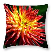 Flame Tips Throw Pillow