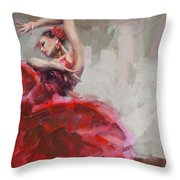 Flamenco 53 Throw Pillow