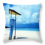 Flamenco Beach And Storm Throw Pillow