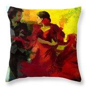 Flamenco Dancer 025 Throw Pillow by Catf