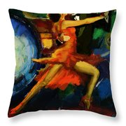 Flamenco Dancer 029 Throw Pillow