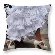 Flamenco Dancer In White Throw Pillow