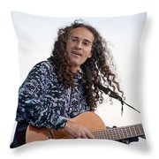 Flamenco Guitarist Throw Pillow